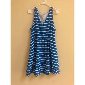 💙☁️ blue and white stripe gap swing dress ☁️💙